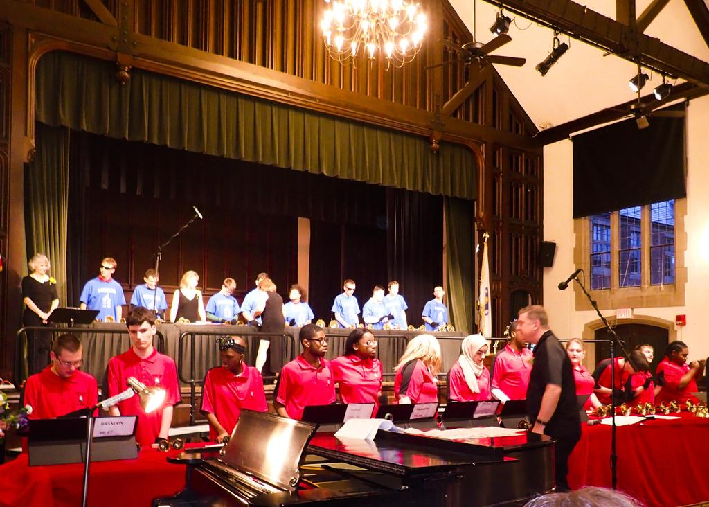 The Bell Choir of Overbrook performing.
