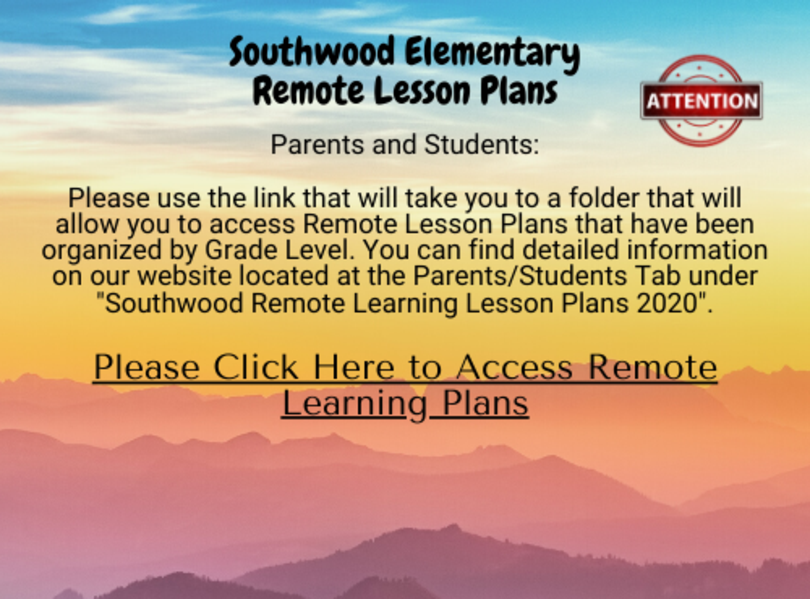 SW Remote Learning Plans