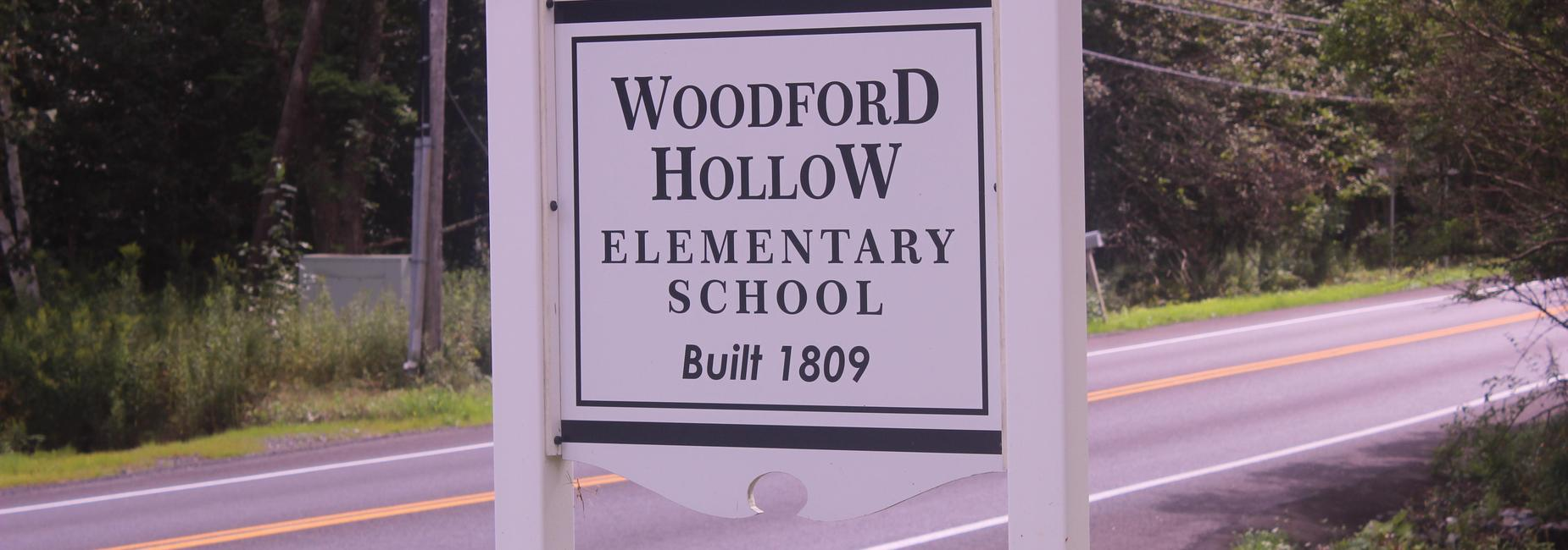 Woodford Elementary sign