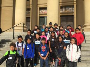Students at Stanford University Cantor Museum.
