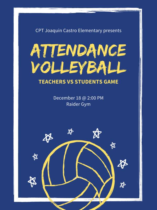 Blue with Yellow Volleyball Illustration Poster.png