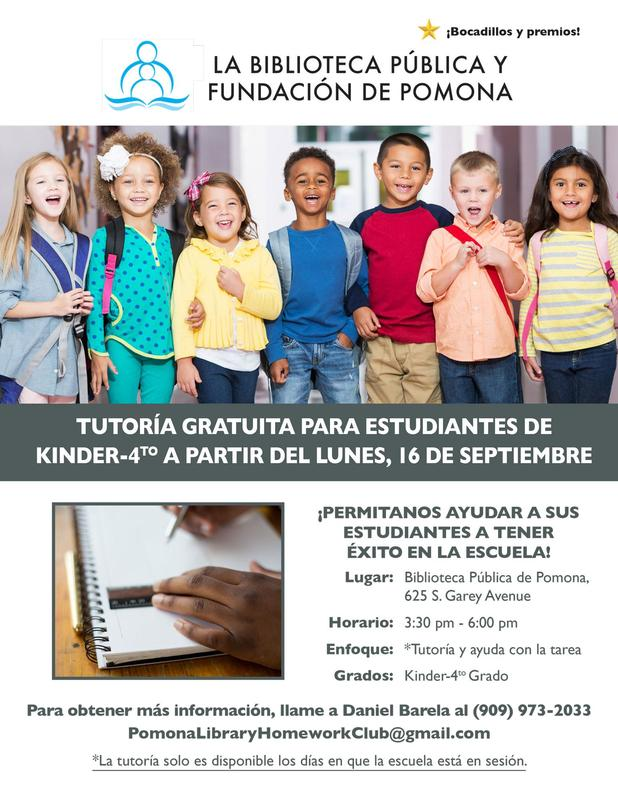 Tutoria Gratuita Para Estudiantes De Kinder-4to