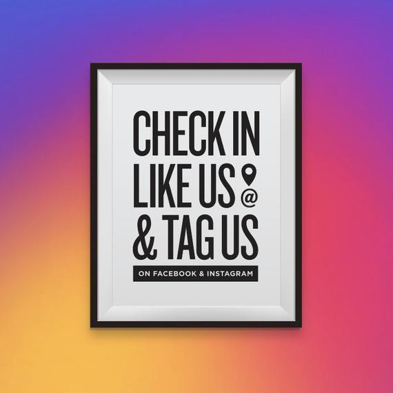 check in likes us and tag us
