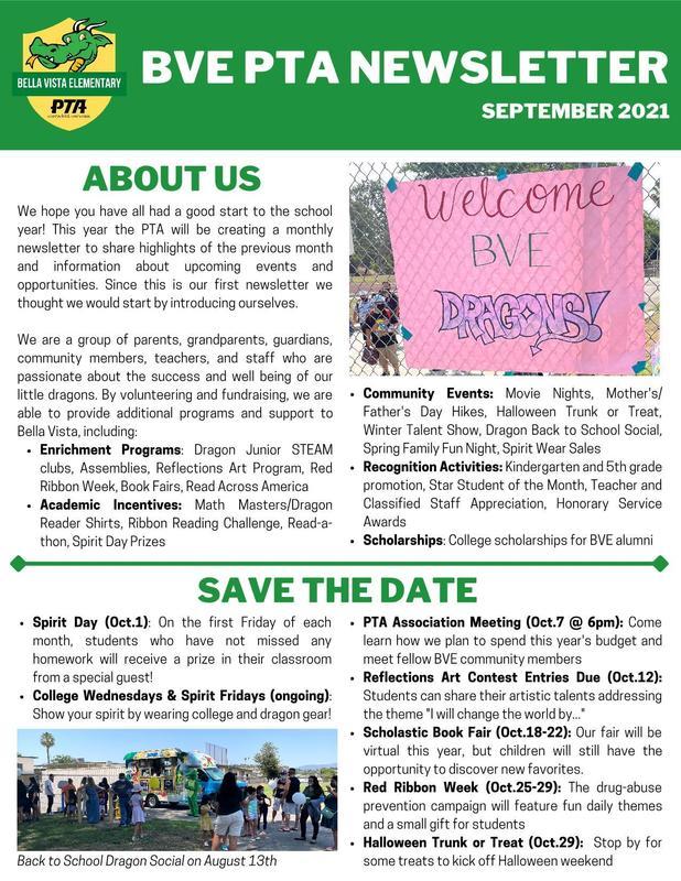 BVE PTA newsletter