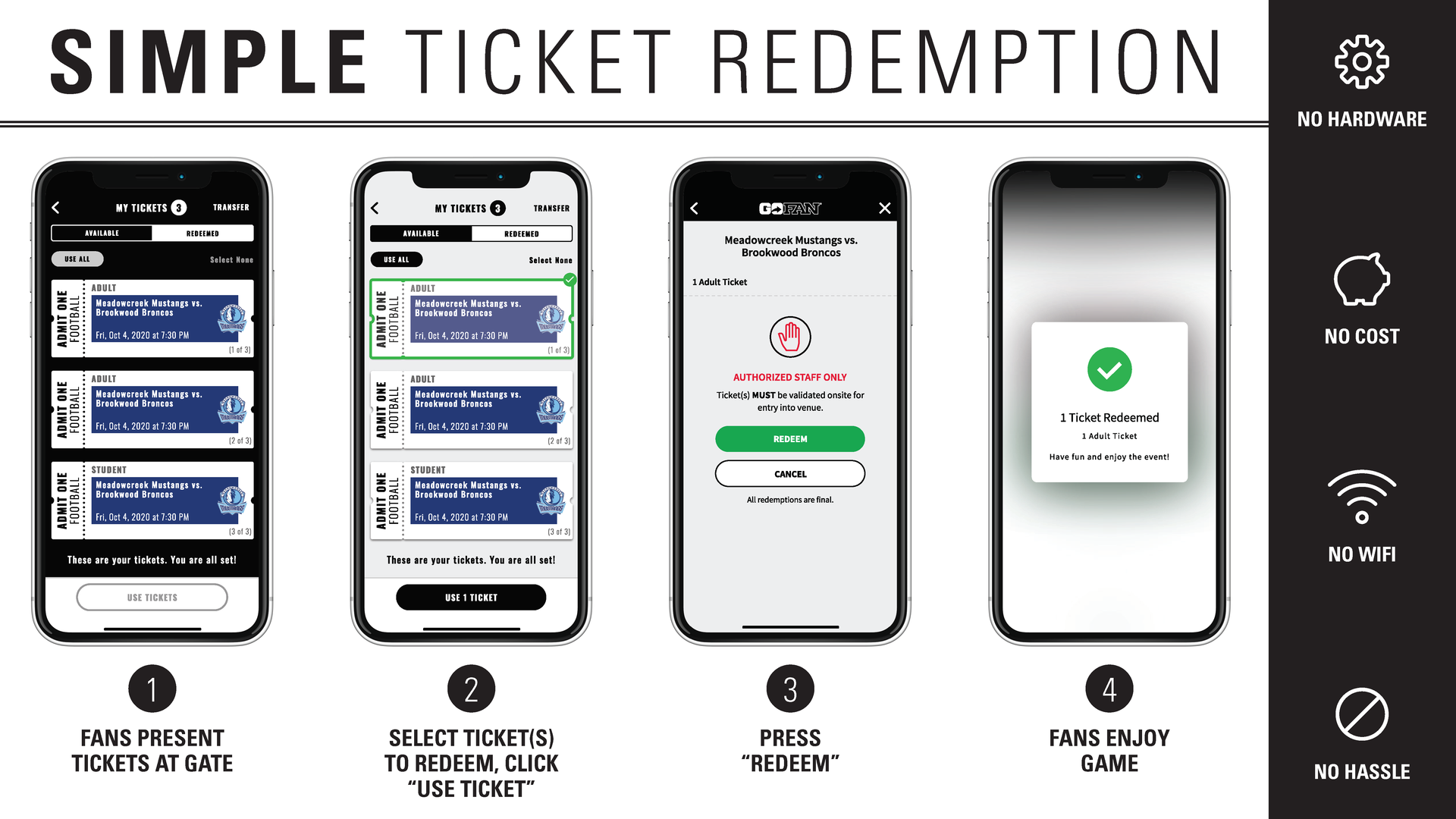 How to redeem tickets?