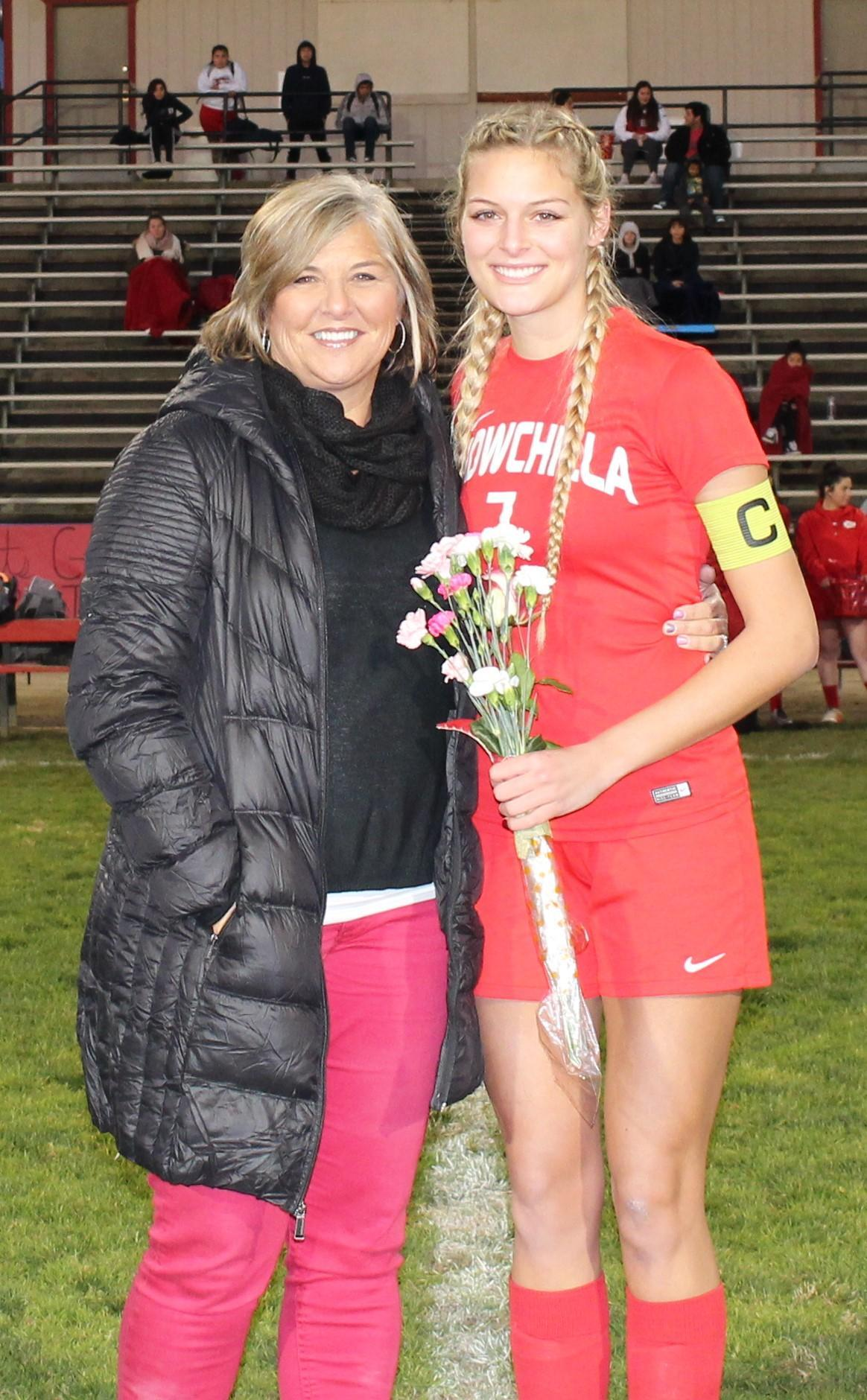 Kinsley Vlot at soccer senior night