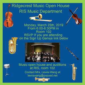 RIS Music Open House clipart