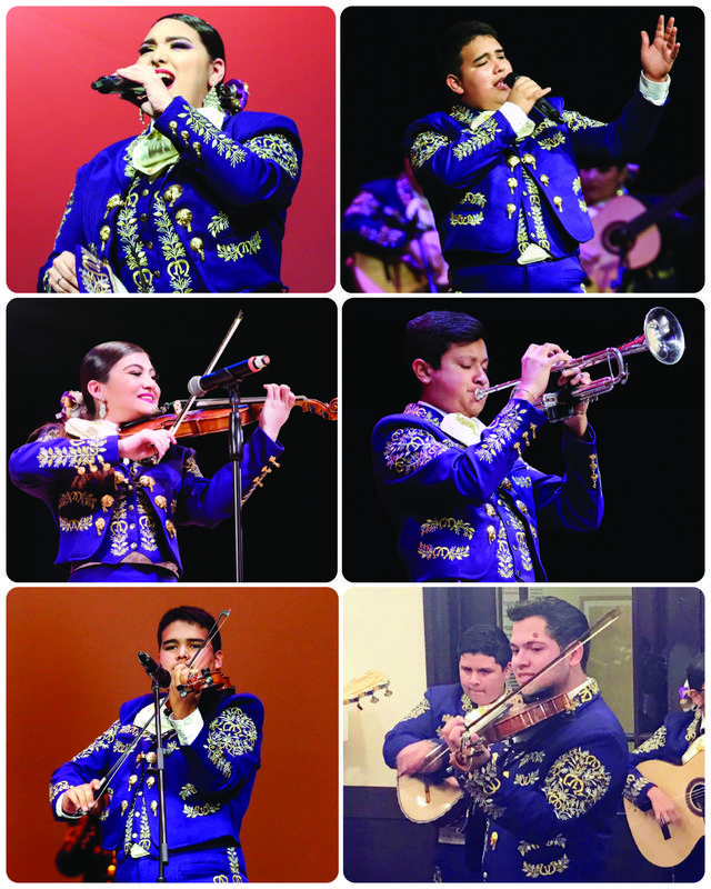 6 images of McAllen High Mariachi students