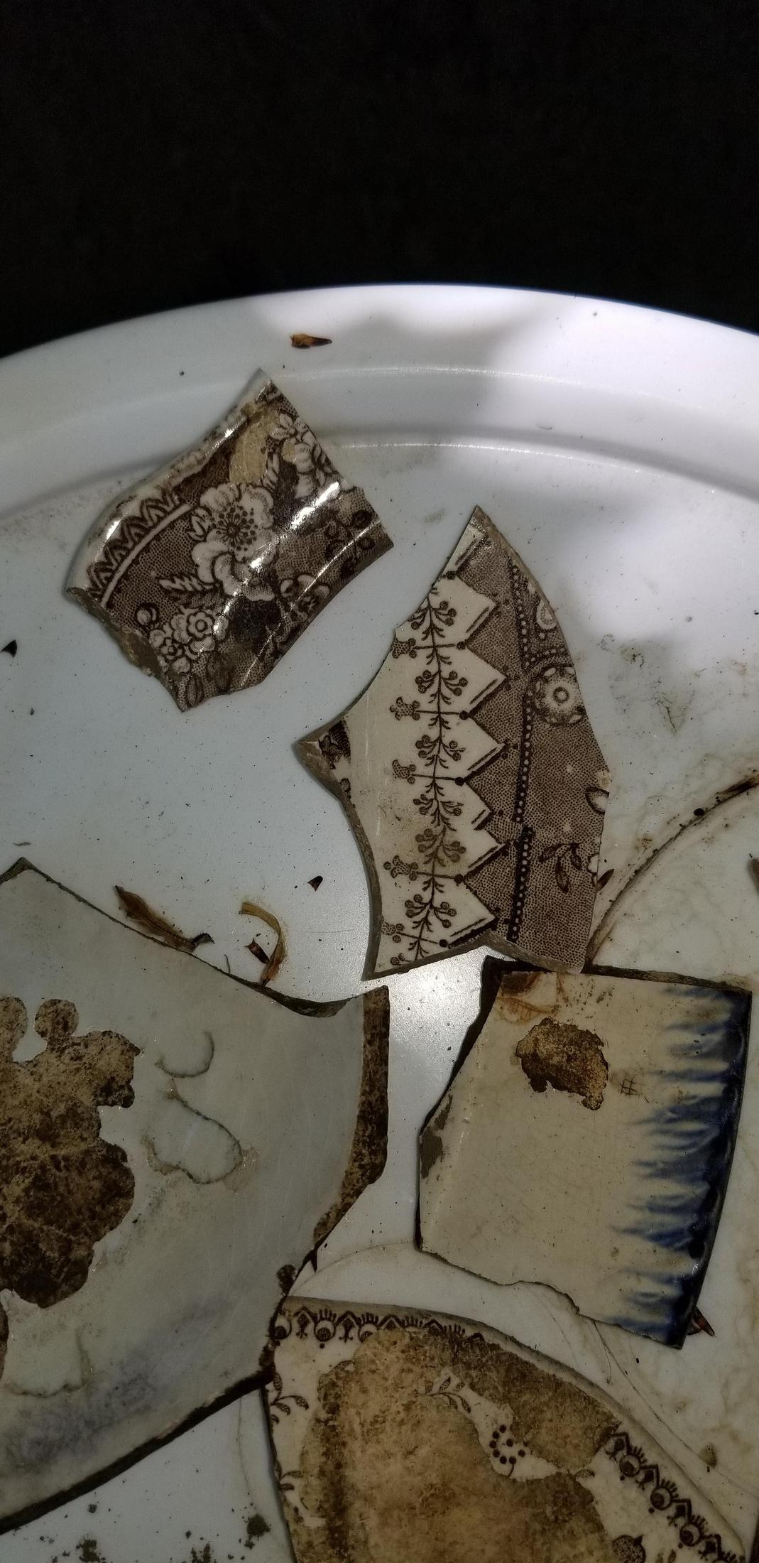 Photo: More excavated china
