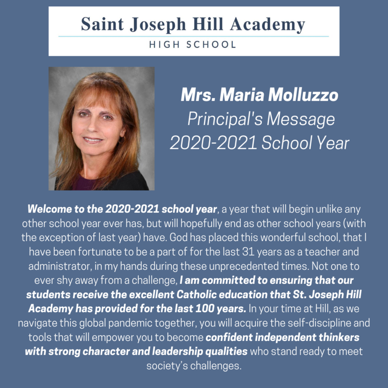 Principal's Message for the 2020-2021 School Year Featured Photo