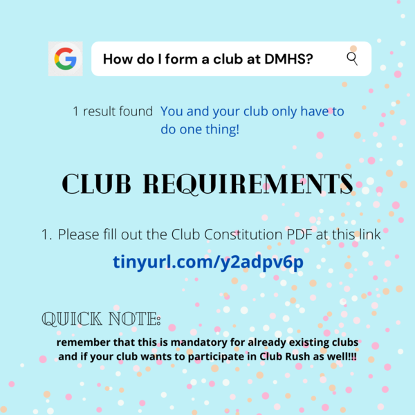 Form a club at DMHS Featured Photo