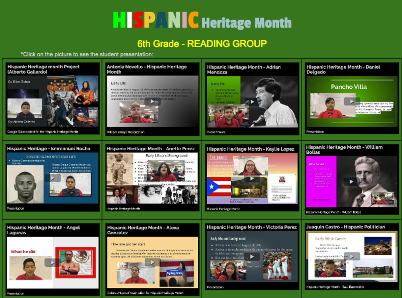 Hispanic Heritage Month presentations