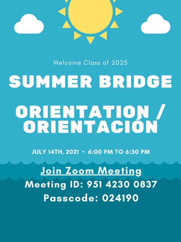 Summer Bridge Orientation for Class of 2025 Featured Photo