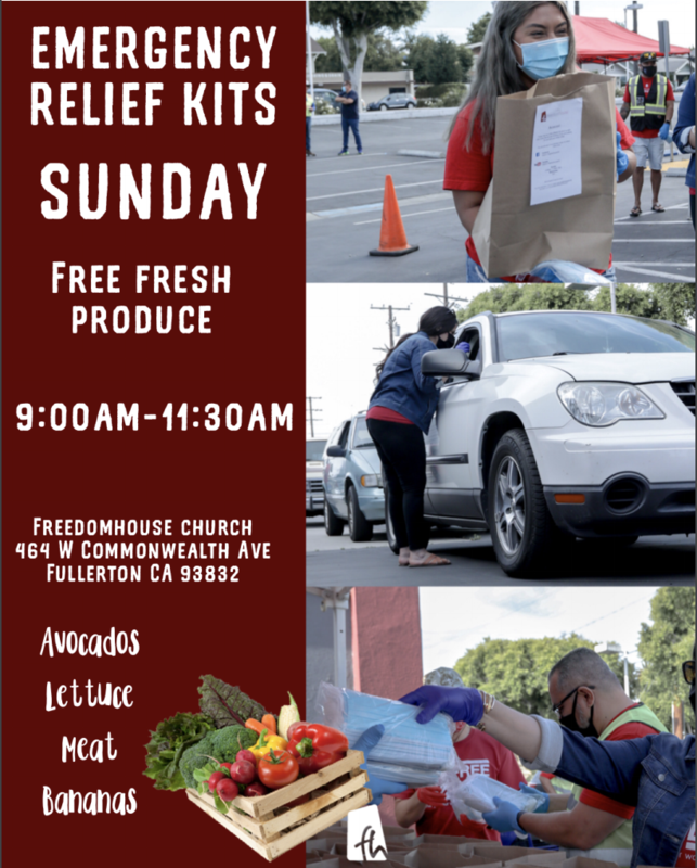 Church produce distribution flyer