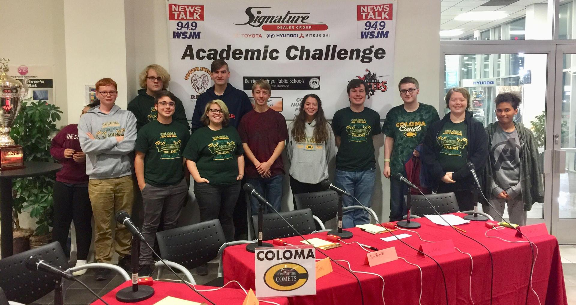 Our first Academic Challenge contest of the season