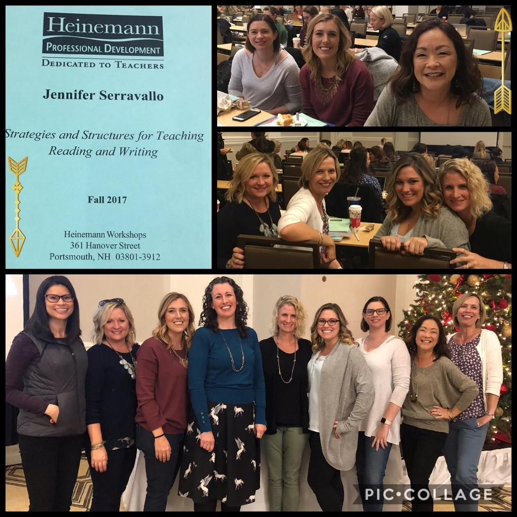 Teachers attending a conference with author Jennifer Serravallo