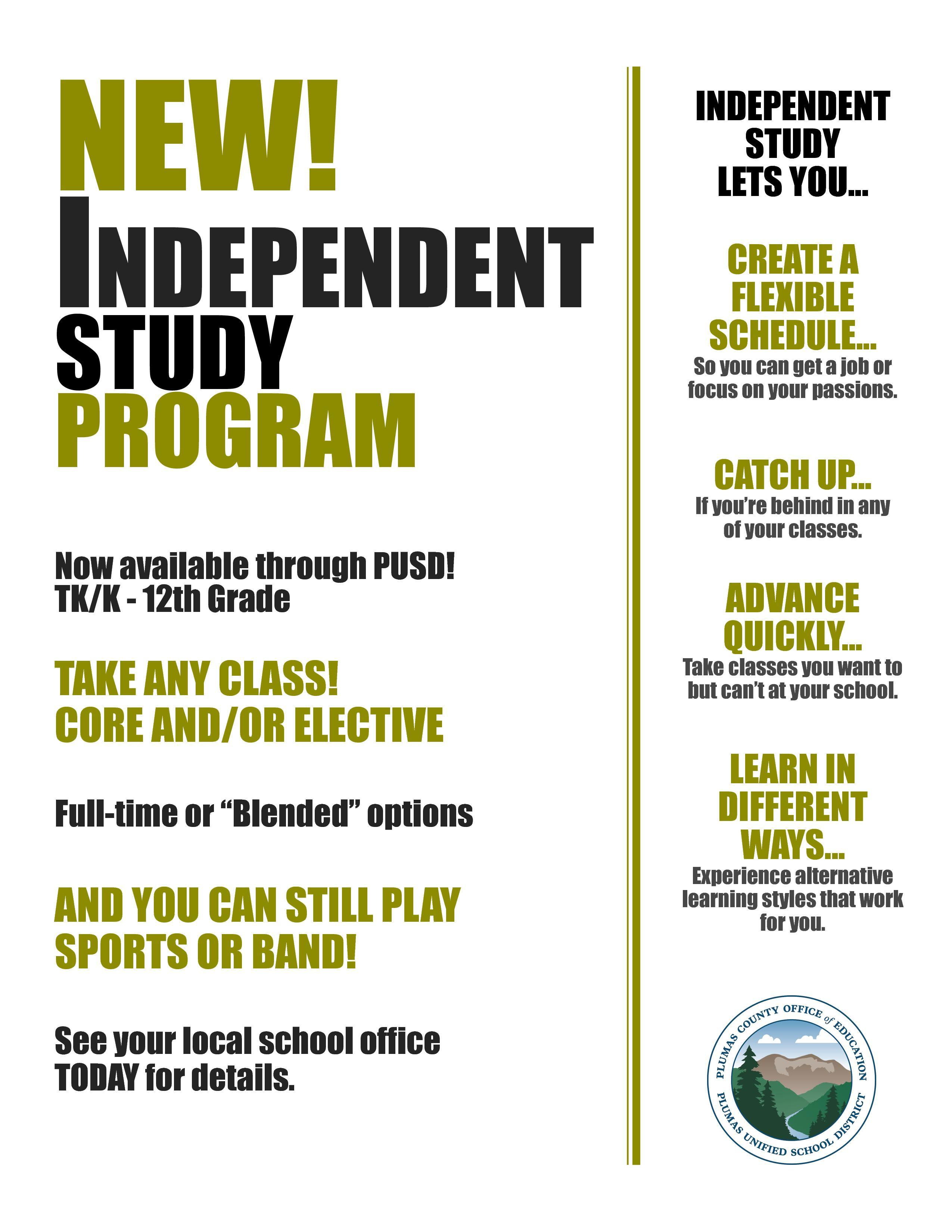 Information on Independent Study