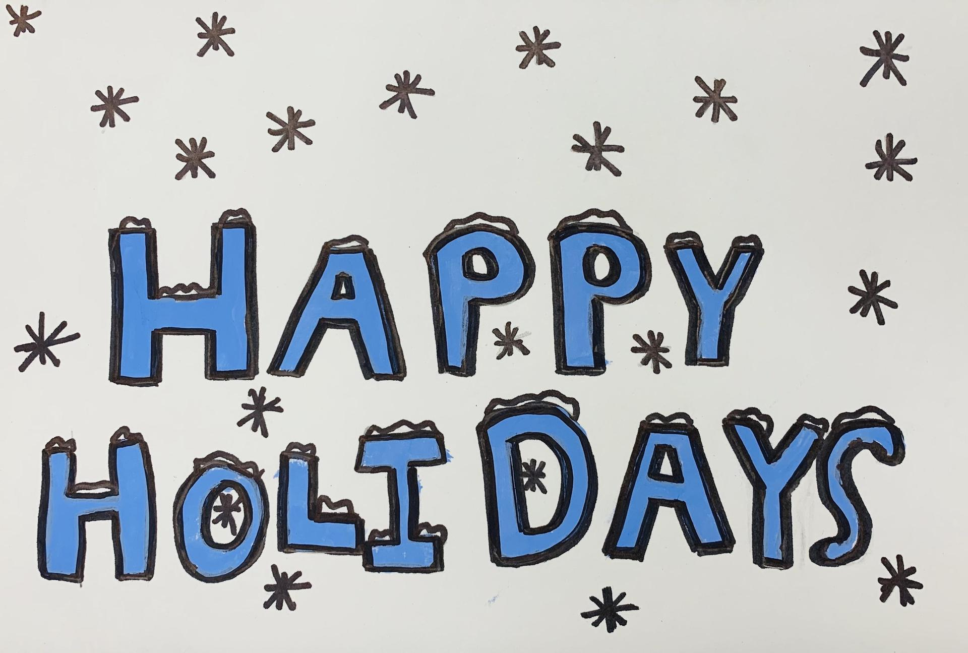 Holiday Card:  Morgan Yorke, Northwest Elementary