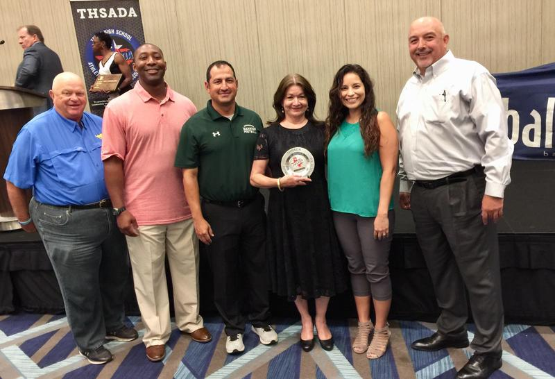 McAllen ISD Athletic Director Paula Gonzalez was named the Region 7 Athletic Administrator of the Year