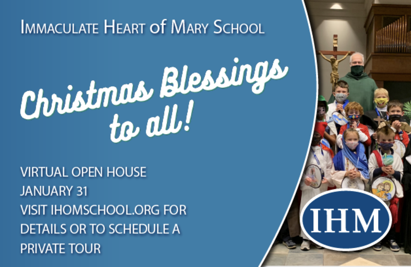 Merry Christmas from IHM School! Thumbnail Image