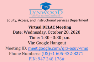 DELAC Meeting Info