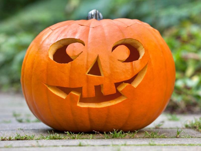 Picture of a carved Halloween pumpkin