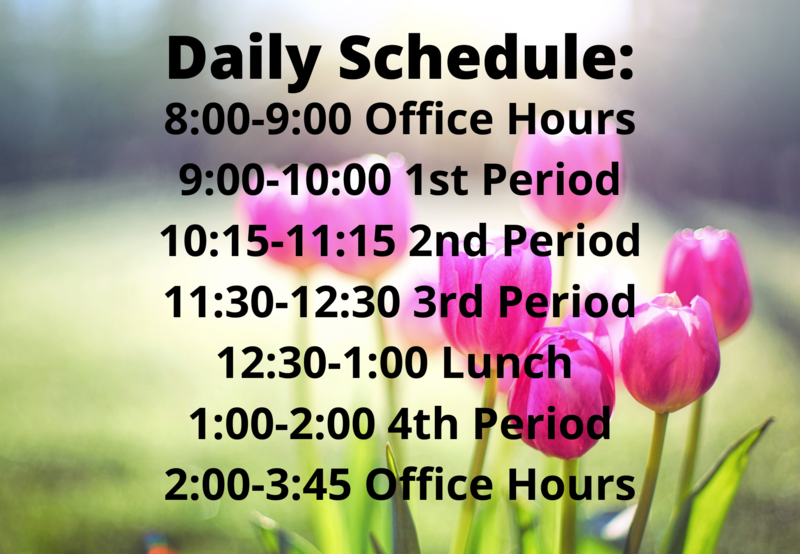 Updated Daily Schedule Thumbnail Image