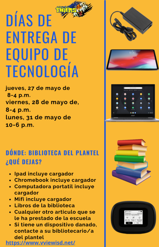 Spanish End of they year Equipment Pickup Flyer.png