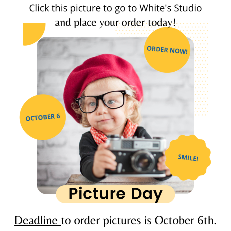Picture Day Announcement to Sign up by Oct. 6