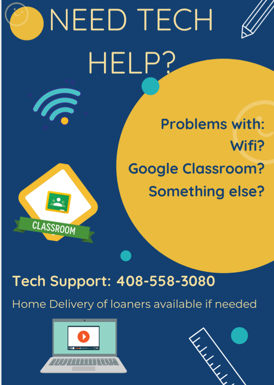 image of district tech support flyer