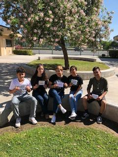 KHSD PAL students with Mother's Day cards