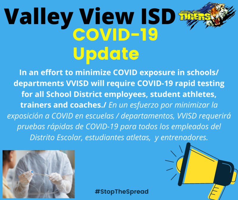 Valley View ISD Covid-19 Update Thumbnail Image