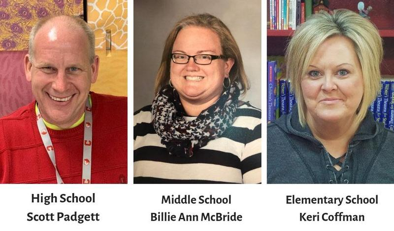 The Cheatham County School District has named three exceptional educators as the 2018-2019 District Wide Teachers of the Year.