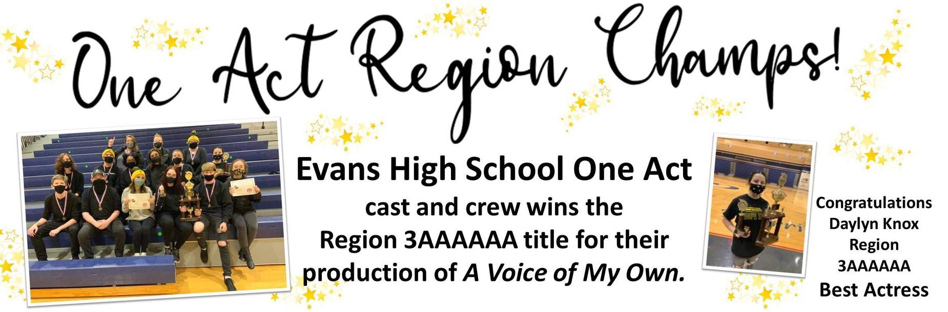 one act wins region