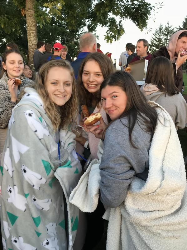 girls huddled together