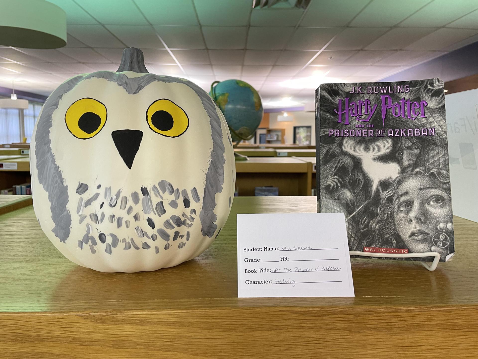 Book Character Pumpkin: Hedwig