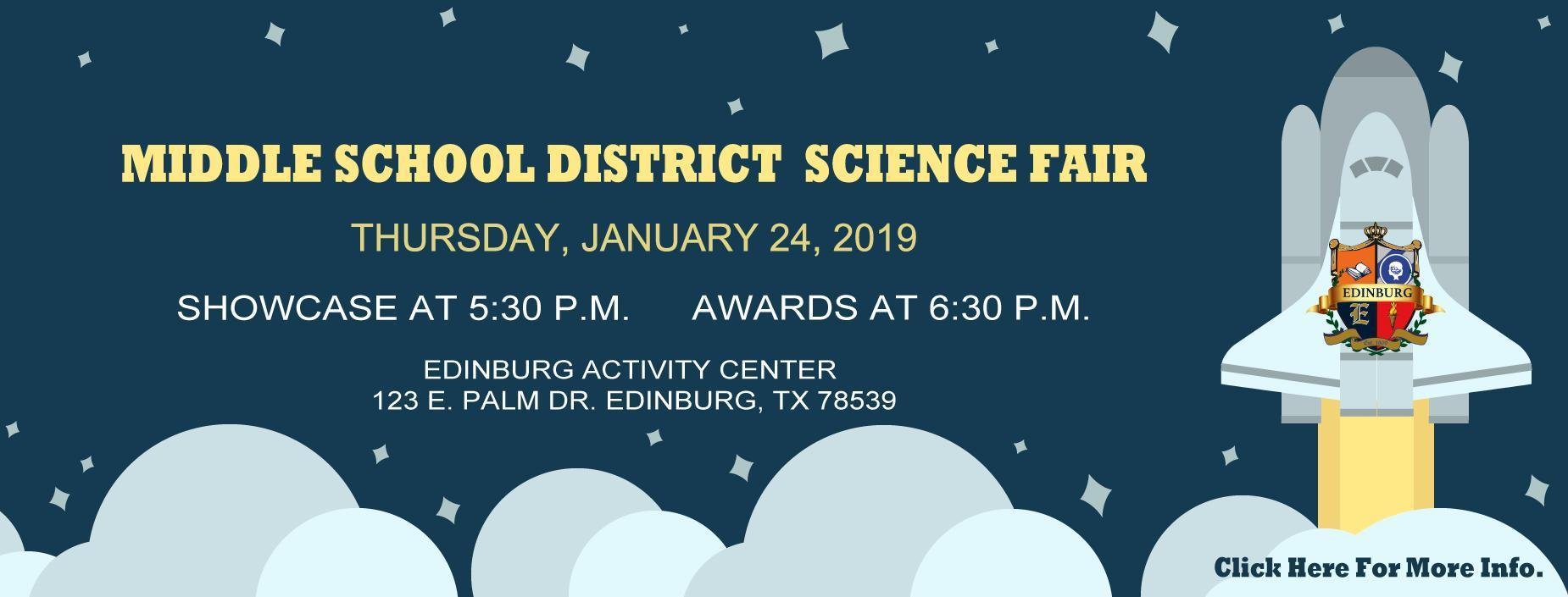 2019 Science Fair Banner