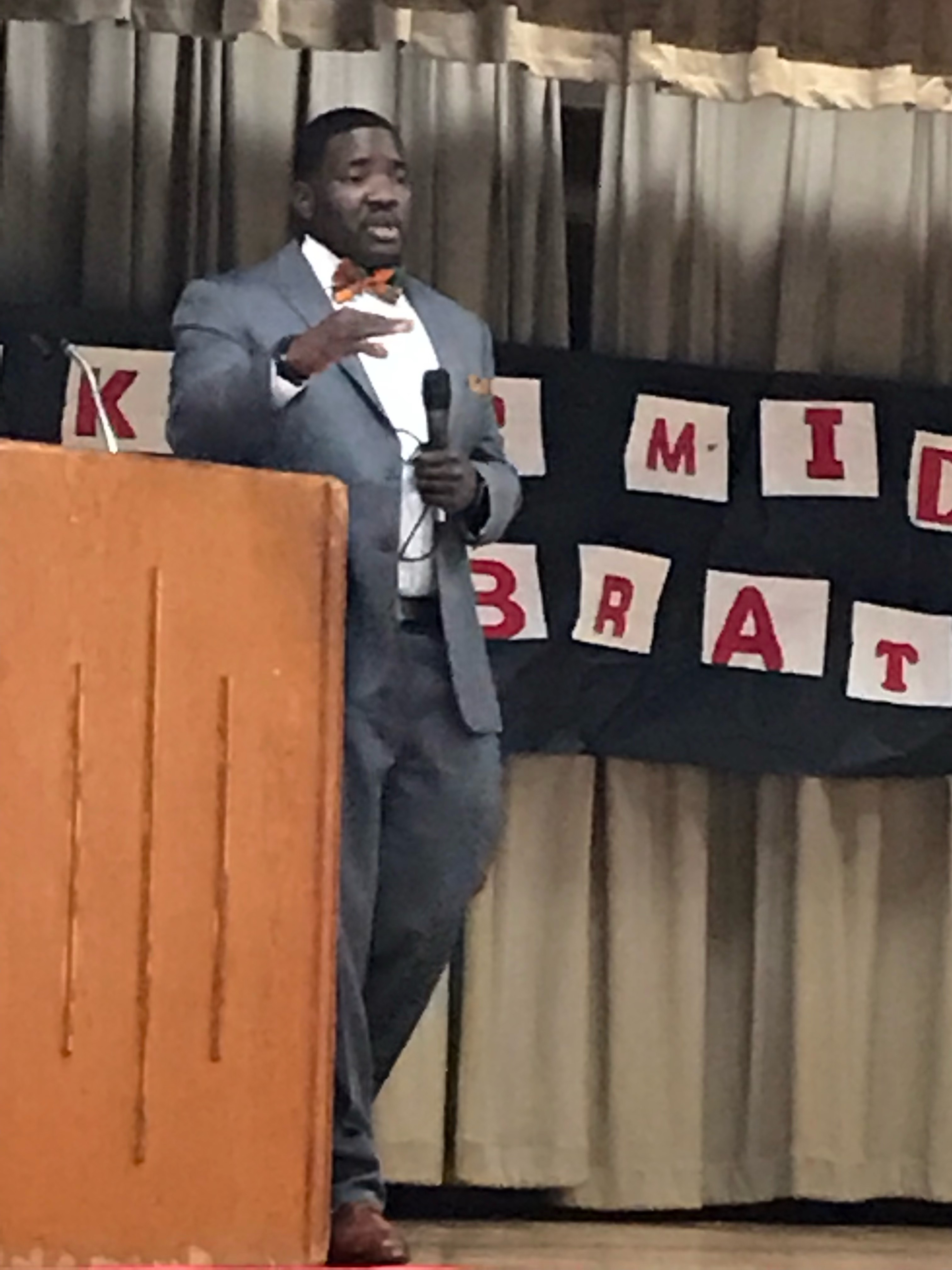 a photo from the 2019 Black History Program at Baker Middle School