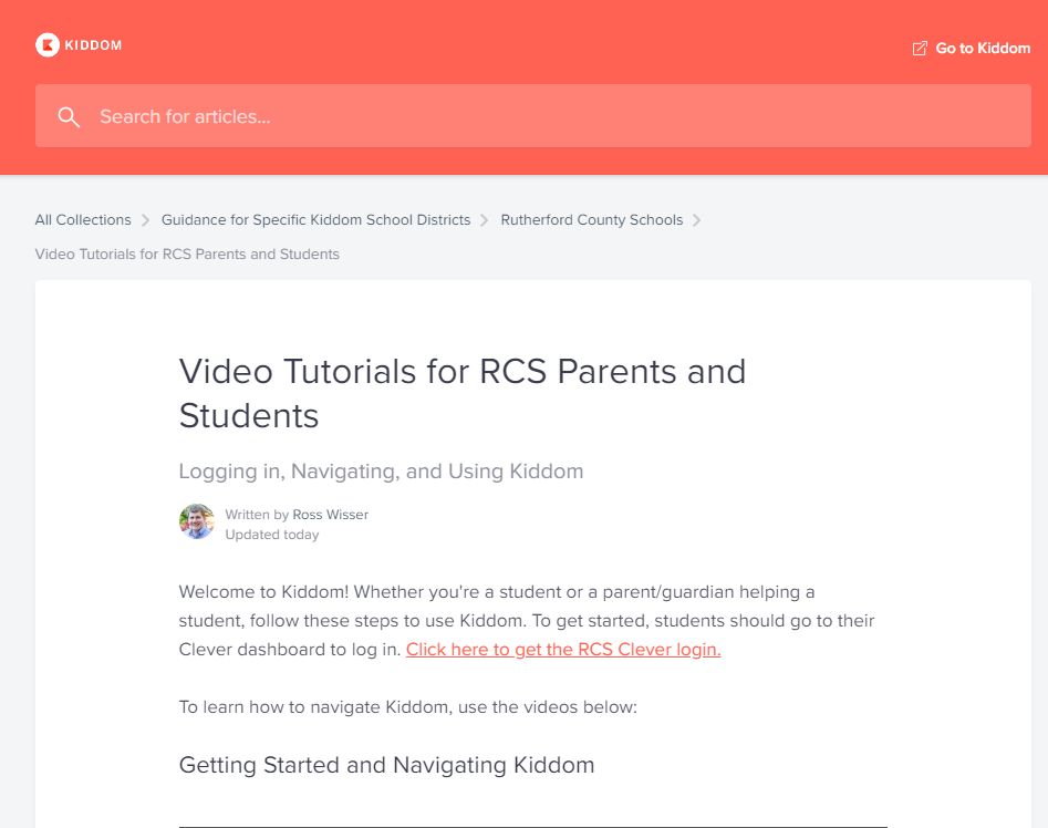 Kiddom Parent Site