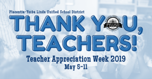 Teacher appreciation week graphic.
