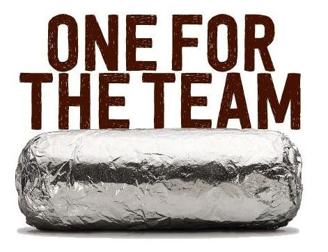 One for the team burrito