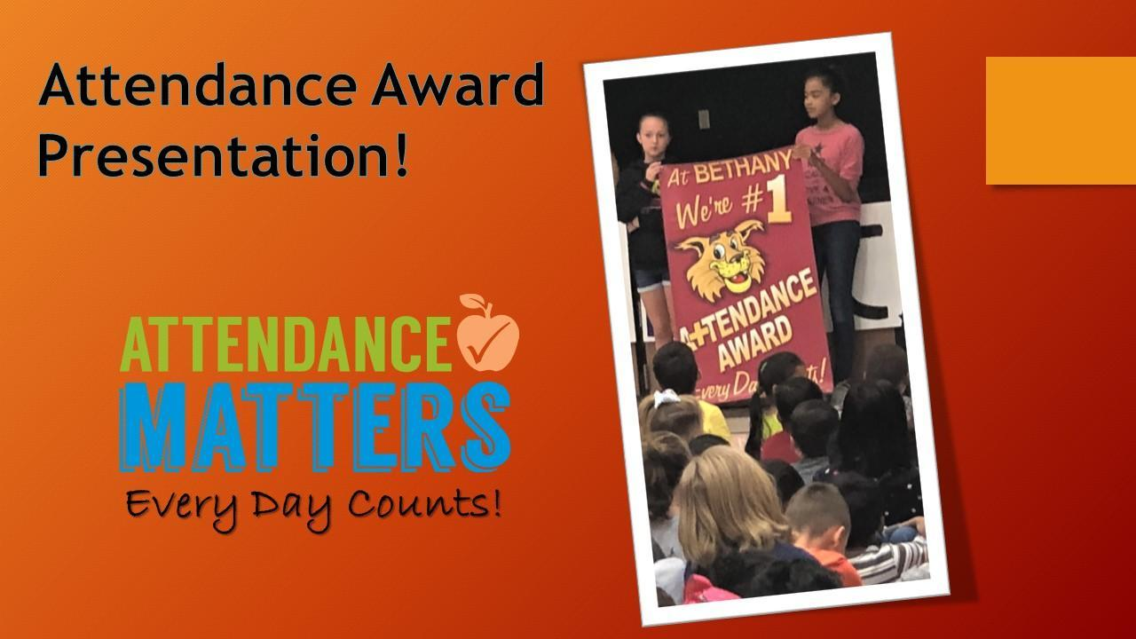 Bethany Elementary School Attendance Rally