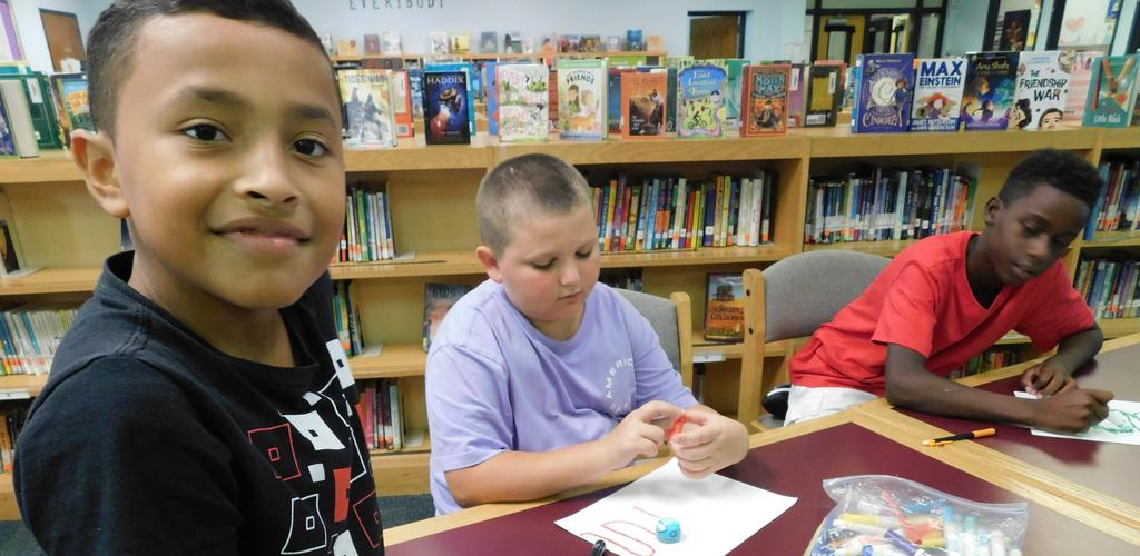 ozobots in the library