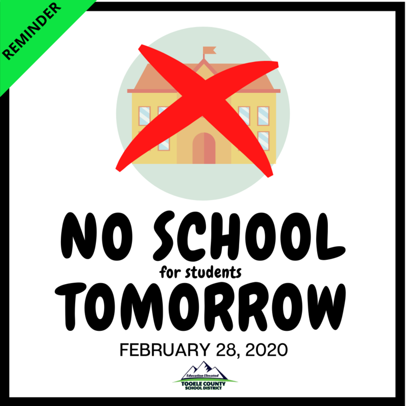 No School Friday, Feb. 28, 2020