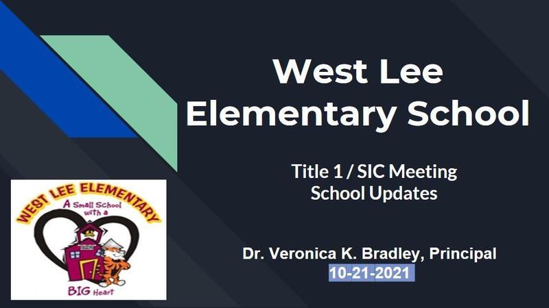 West Lee Title1/SIC Meeting