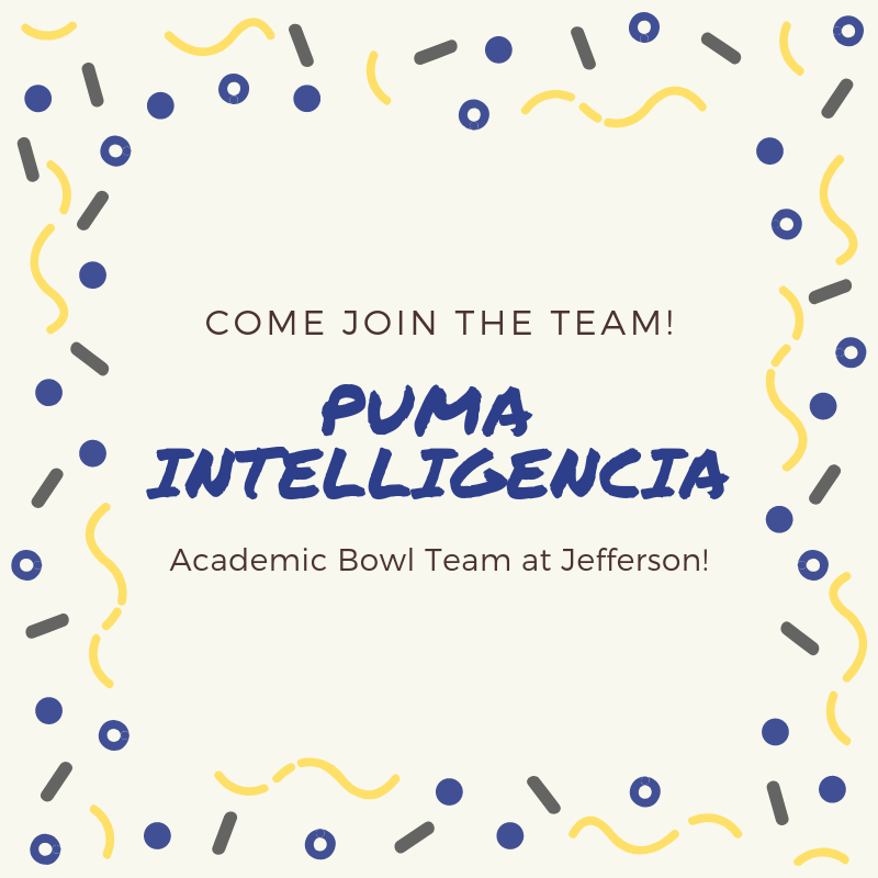 Join Our Puma Intelligencia Academic Bowl Team! Thumbnail Image