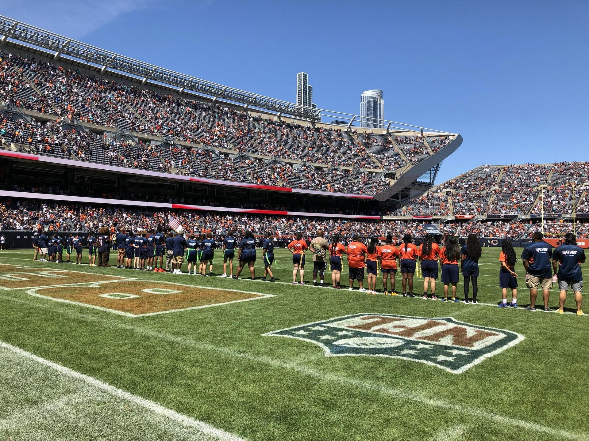 The Prosser Flag Football team plays at Soldier Field!