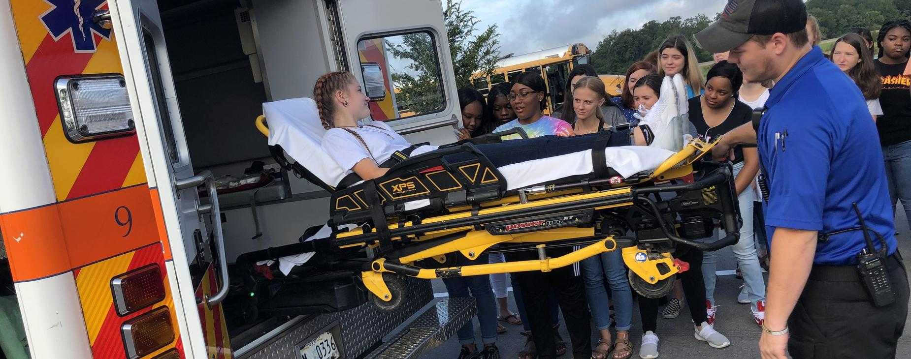Health Science learns about emergency services