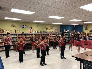 dance team performing