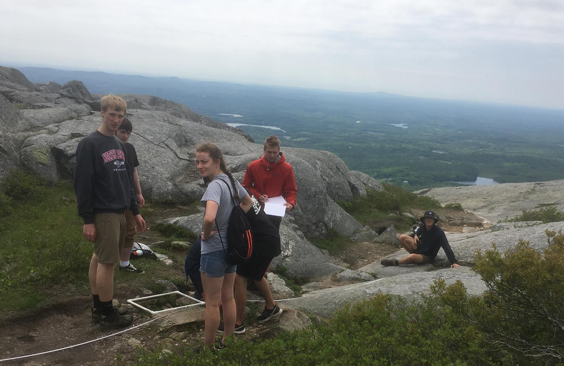 Students doing research on Mt. Monadnock